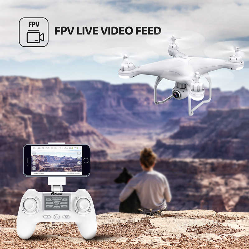 Potensic T25 2.4 2.4ghzのrcドローン 1080 1080p wifi fpv hdカメラ高度ホールド 1 キー · リターン/着陸/離陸ヘッドレスrc quadcopterドローン