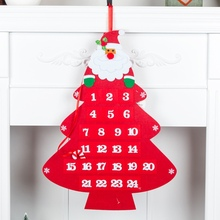 Non-woven Christmas Hanging Advent Calendars 24 Days Countdown To Xmas Gift Decorations Weihnachtskalender Kerst Kalender H1 .x