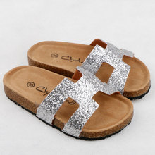 Children Slippers Flip Flops Summer Slides Kids Shoes Bling Beach Slides Sandals Casual Shoes Slip On Orthopedic Cork Shoes