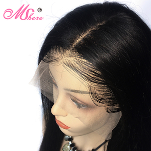 Image 4 - Mshere Straight Lace Front Human Hair Wigs 13x4 Brazilian Straight Hair Wig with Baby Hair 4x4 Lace Closure Wig Pre Plucked 150%