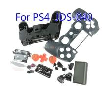 1 مجموعة الإسكان شل الحال بالنسبة لسوني بلاي ستيشن 4 PS4 وحدة تحكم لاسلكية jds 040 jds 020 4.0 2.0 شل مجموعة غمبد الجبهة الغطاء الخلفي