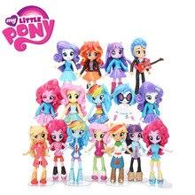 12cm 9pcs 7pcs My Little Pony: La magia de la Amistad El Set de La Figura de Pony La Princesa Twilight Sparkle Rainbow Dash Fluttershy Muñeca de Modelo Muñecas