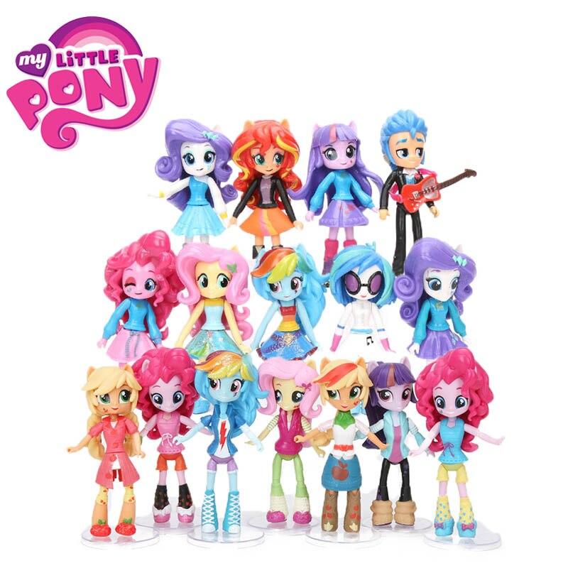 12cm 9 stücke 7 stücke My Little Pony Spielzeug Freundschaft Ist Magie Pony Figur Set Twilight Sparkle Rainbow Dash fluttershy Modell Puppe Puppen