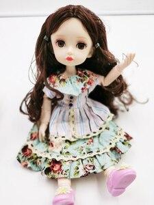 Image 2 - New 1/6 Princess Dressup Doll BJD 26cm Beautiful Girl Doll with Dress