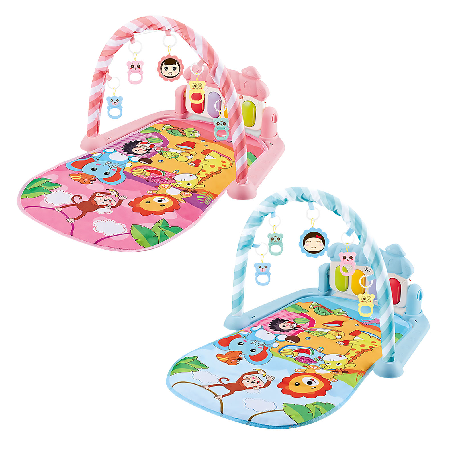 Baby Gym Play Mats Kick And Play Piano Gym Activity Center For Infants Gym Crawling Activity Rug Toys For 0-12 Months