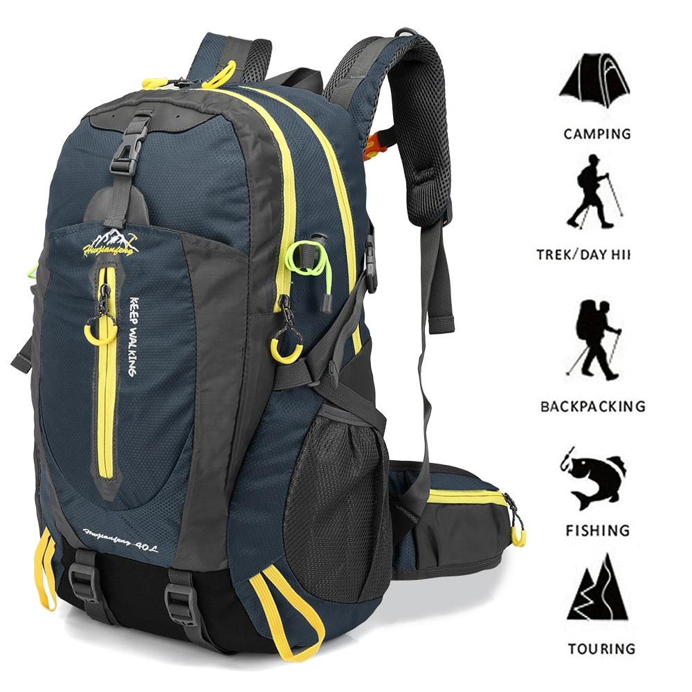 Outdoor Sports 40L Waterproof Climbing Bag Camping Laptop Rucksack For Travel Hiking