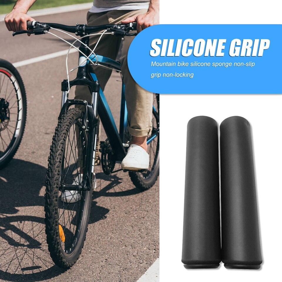 Ultralight Silicone Cycling Bike Handlebar Girps Soft Anti-slip Hand Grips Black