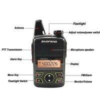 מכשיר הקשר 2pcs Baofeng BF-T1 מיני מכשיר הקשר UHF Kids שני הדרך רדיו Baofeng T1 Ham Radio HF BF T1 Walky טוקי USB מטען FM Woki טוקי (2)