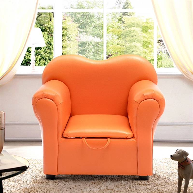 Kids Sofa Armrest Chair Couch W/ Storage Function Children Furniture High Quality Sturdy One Seat Armchair Children Sofa HW58275