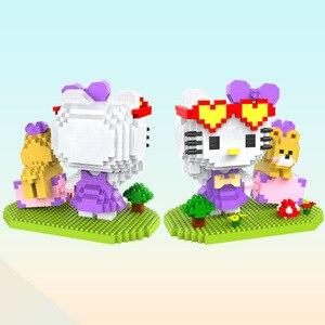 Image 4 - マイクロhcマジックブロック漫画ビルのおもちゃアニメ猫モデルbrinquedosオークションフィギュアのおもちゃ子供のギフト9070