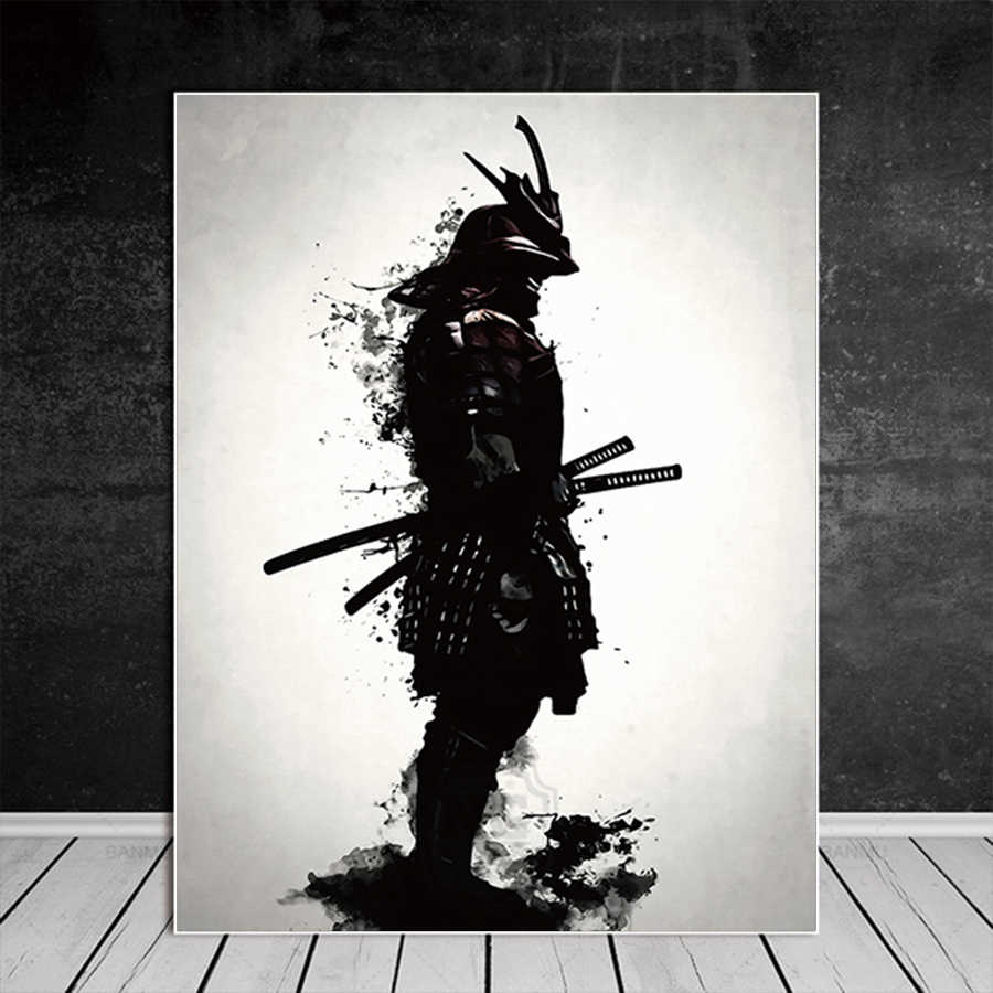 Japanese Samurai Canvas Oil Painting Modern Wall Art Pictures Canvas Print For Living Room HD Home Decoration Posters And Prints