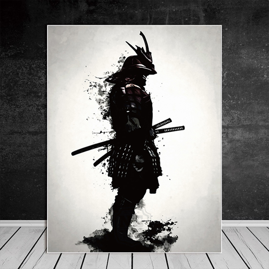 >Japanese Samurai Canvas Oil Painting <font><b>Modern</b></font> Wall Art Pictures Canvas Print For Living Room HD <font><b>Home</b></font> Decoration Posters And Prints