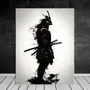 Japanese Samurai Canvas Oil Pa