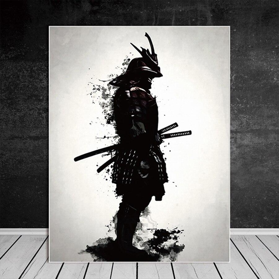 Vintage Japanese SAMURAI Warrior Art CANVAS PRINT 8x10~Kabuki#057 Drawing Poster