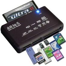 Uniwersalny czytnik kart pamięci do zewnętrznego USB Mini Micro SD SDHC M2 MMC XD CF tanie tanio NoEnName_Null 2 w 1 CN (pochodzenie) Wewnętrzny None Card Reader Plastic Black 1 Set