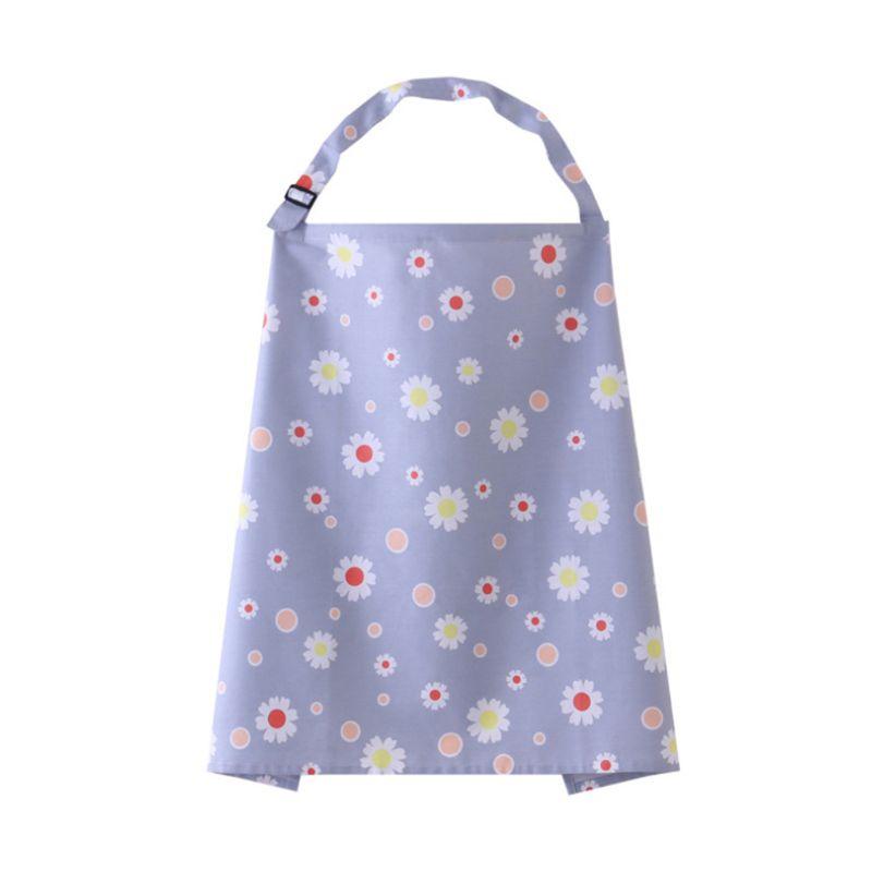Mum Breastfeeding Nursing Cover Up Baby Poncho Shawl Udder Cotton Blanket Bag.