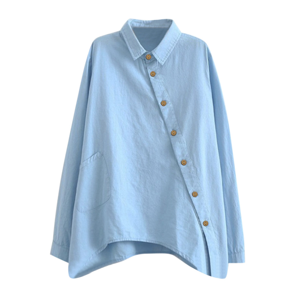 SAGACE Fashion Women Solid Color Shirt Long Sleeve Casual Tops Sexy V-Neck Office Lady Solid Shirts Tops Hot Sale