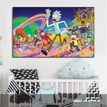 Anime Poster Decorations Painting Art Rick-Morty Carton Canvas Kids Bedroom Teen Prints