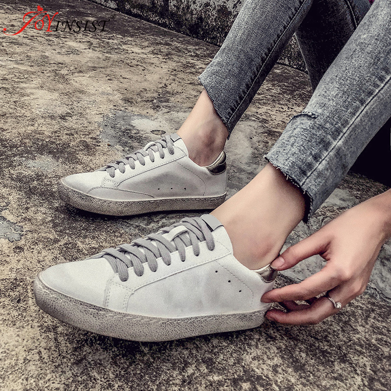 2020 New Female Korean Autumn and Winter Korean Wild Flat White Shoes the New Spring and Autumn Fashion Shoes Flat Lace Shoes