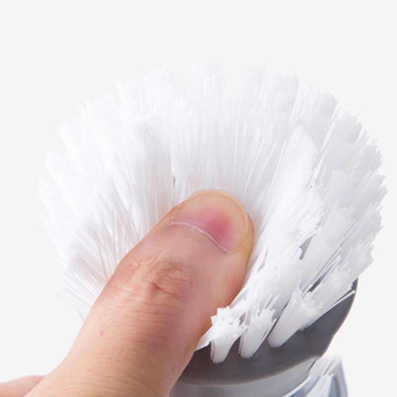 2019 新家庭洗濯道具鍋ブラシ液体洗濯石鹸ディスペンサーポットブラシ皿ブラシ洗浄