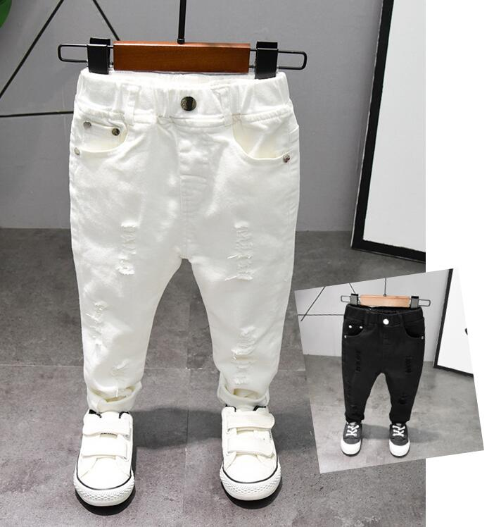 Boys Trousers Chorus Clothing Pure White/Black Students Recital Contest Straight Pants Boys Comfortable Latin Dance Trousers 1