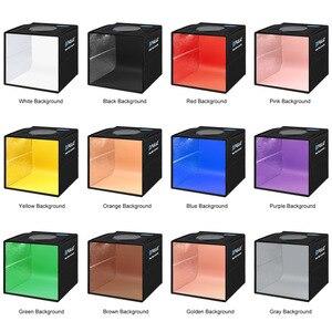 Световое кольцо Cadiso для фотосъемки 25 см, светодиодный складной студийный диффузный софтбокс, портативное освещение для фотосъемки, палатка для фотосъемки с фоном