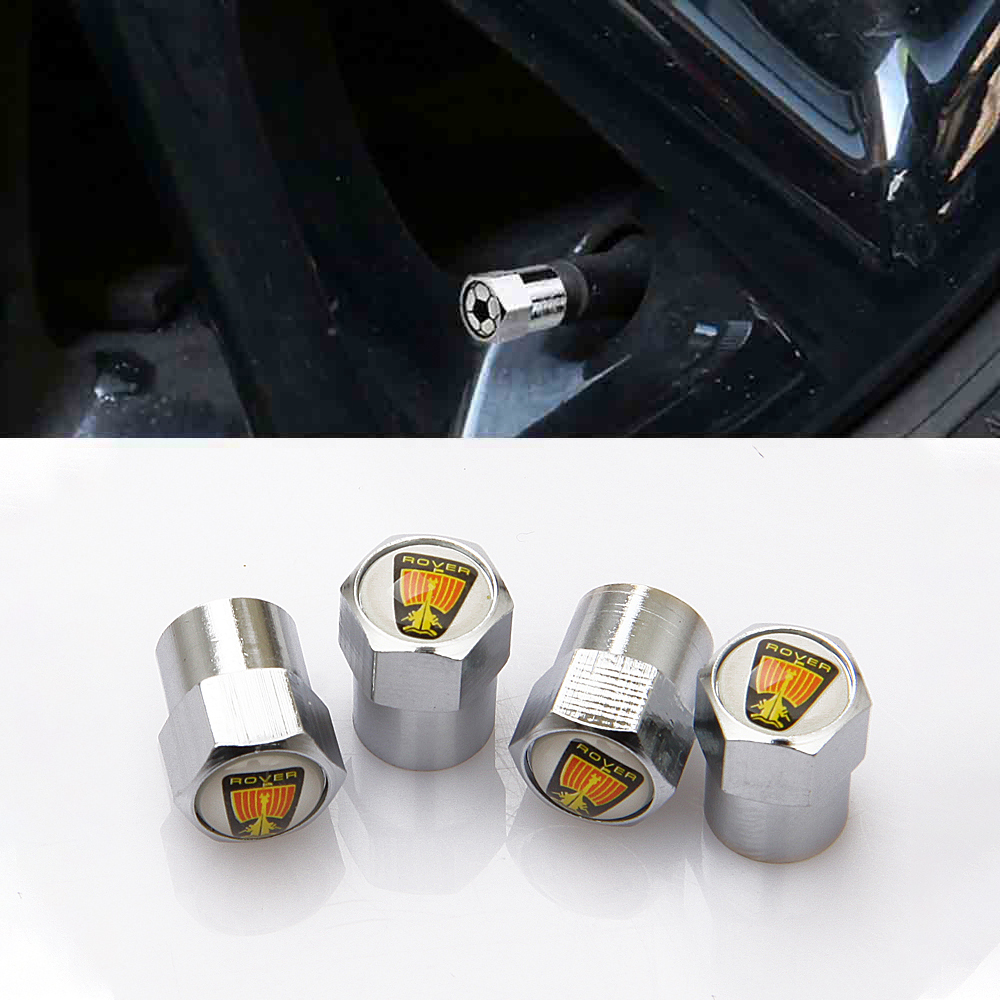 Car Tire Valve Caps Air Tyre Stems Cover 6 Corners For Rover 75 TF Metro P5 200 Streetwise Auto Accessories Car-Styling