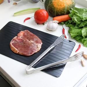 Image 3 - Быстрое устройство для размораживания, поднос для размораживания мяса, фруктов, еды, быстрое устройство для размораживания (в комплекте 4 защитных угла)