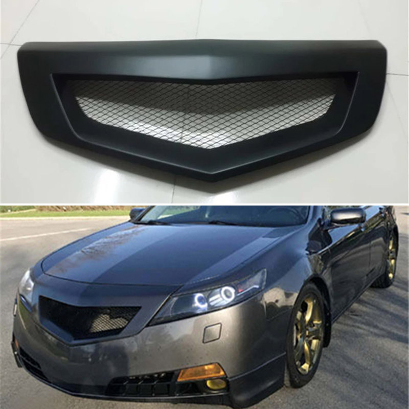 Body kit front bumper cover Refitting grill Accessories carbon fibre Racing Grills use for <font><b>Acura</b></font> <font><b>TL</b></font> <font><b>2009</b></font> 2010 2011 Year image