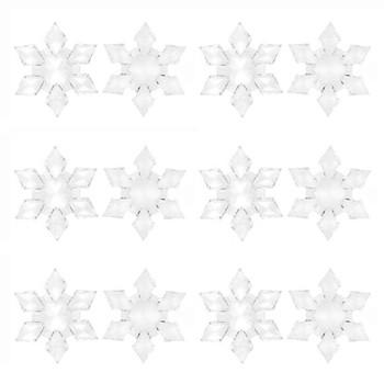 12 sztuk kryształowe boże narodzenie śnieżynka świąteczne dekoracje wiszące akrylowe Rhinestone zamroził dla domu zima DIY ślub część d3 tanie i dobre opinie CN (pochodzenie) Gift Box