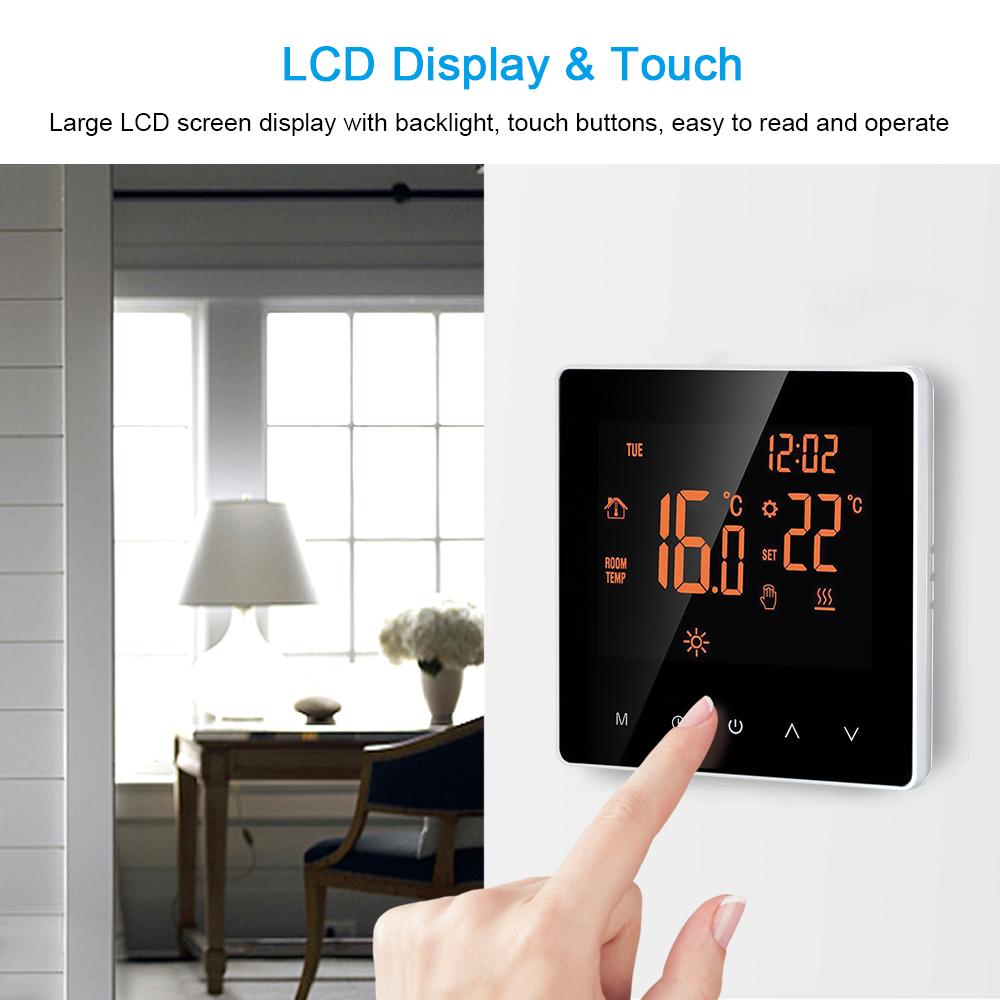 Wi-Fi Smart Thermostat Digital Temperature Controller Underfloor Heating Thermostat For Electric Heating System Floor Air Sensor