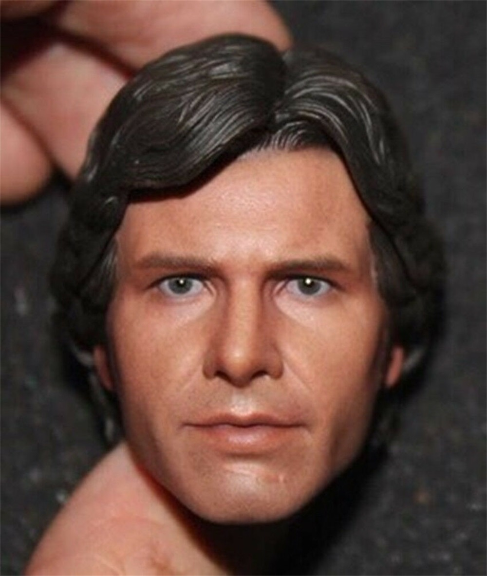 1:6 Scale Star Wars Figure Harrison Ford Head Carving Han Solo Head Sculpt  for 12 inches Male Body Accessories 1
