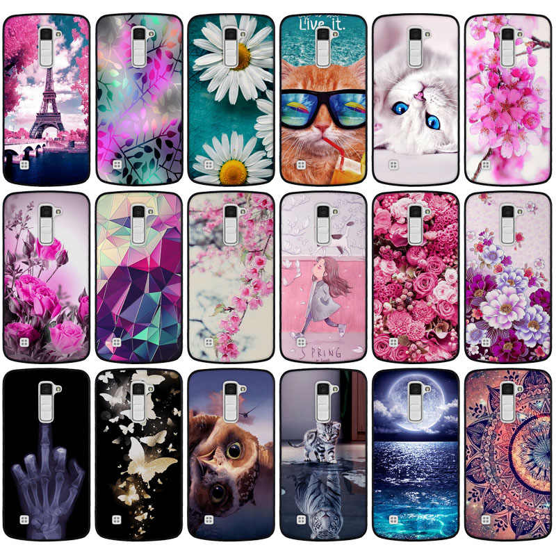 Untuk LG Q6 Yang Alpha Q6a Q 6 M700 untuk LG K10 2017 Case TPU Lembut Silicone Cover untuk coque LG K10 LTE 2016 K420N K410 K430 Cover
