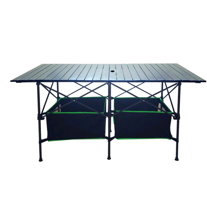 Outdoor Folding Table Portable Aluminum Table Portable Foldable Multipurpose Camping Table Mesa Plegable Height Adjusted