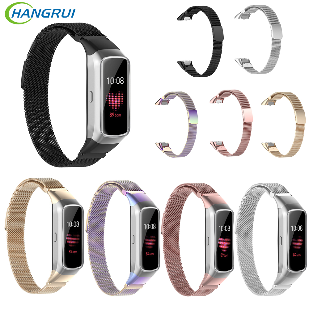 Stainless Steel Strap For Samsung Galaxy Fit SM-R370 Metal Smart Watch Wrist Band For Fit SM-R370 Bracelet Accessories