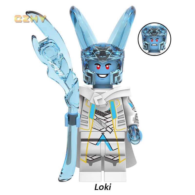 ثور وكي أودين Laufey Frigga Minifigured أعجوبة LEGOEINGLY المنتقمون أسكارد بناء كتل الطوب لعب للأطفال هدية X0269