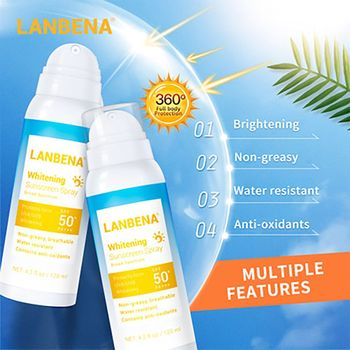 цена на LANBENA SPF50 PA+++ Whitening Sunscreen Spray Hyaluronic Acid Isolation Sunscreen Cream body Sunblock Lotion Sun Screen Sunblock