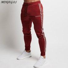 Уличная Повседневная мода мужские брюки джоггеры хлопок спортивные
