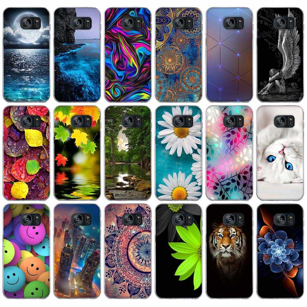 Case For Samsung Galaxy S7 Case Cover for Samsung Galaxy S5 S6 Case Silicon Cover for Samsung S7 edge S6 Edge S5 i9600 Cover bag