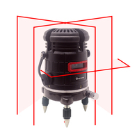 5 Line 6 Points Red Laser Level Self-leveling Horizontal Vertical 360 Degree Adjustment Tilt&Outdoor Function