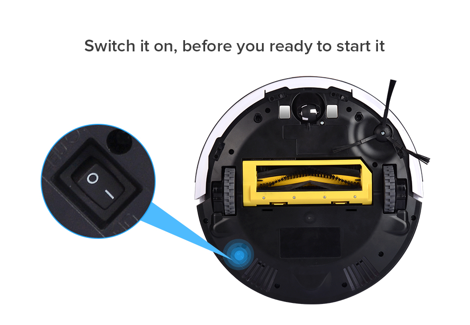 Hd2c2ab24ac5043d6804f872919dc8c5de ILIFE V7s Plus Robot Vacuum Cleaner Sweep and Wet Mopping Disinfection For Hard Floors&Carpet Run 120mins Automatically Charge