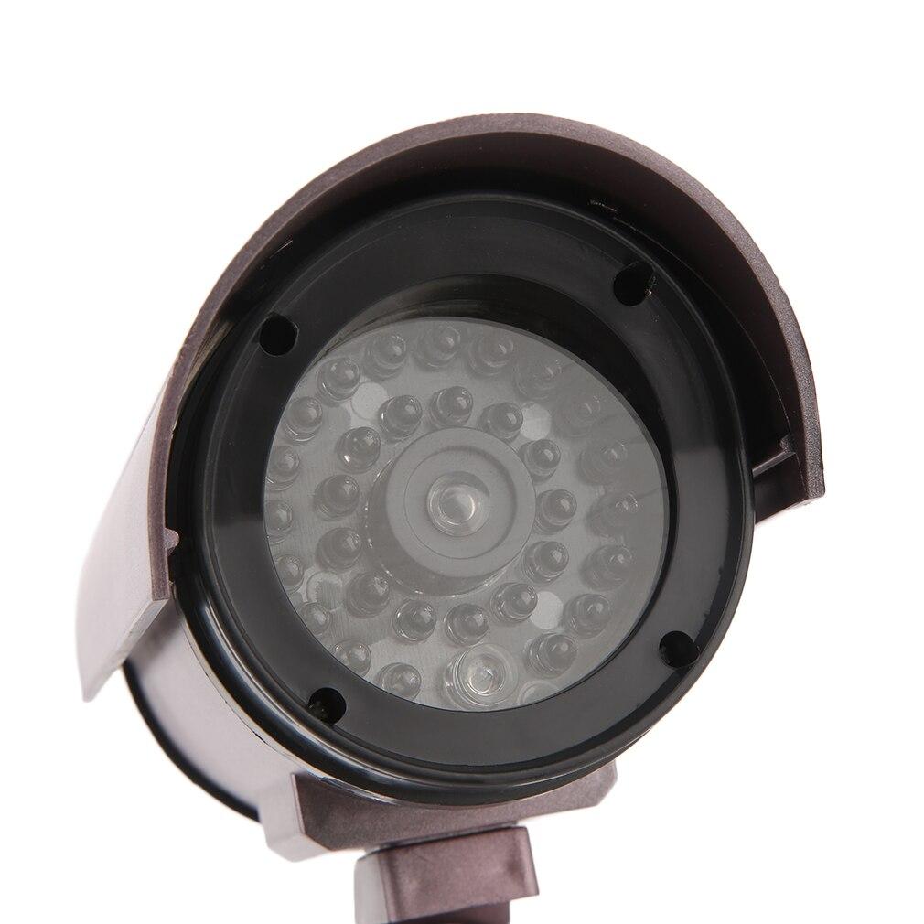 Пустышка камера водонепроницаемая домашняя камера видеонаблюдения светодиодный светильник-вспышка наружная камера