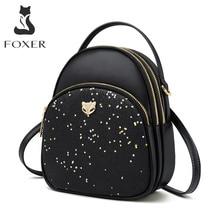 FOXER Glett Design Mini plecak damski Split skóra wielowarstwowa przestrzeń kobiety torba na ramię nowa moda torebka dziewczyna walentynki prezent