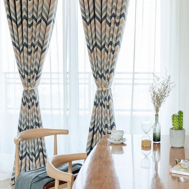 Cortinas de impresión mosaico moderno geométrico Simple para el dormitorio  del comedor
