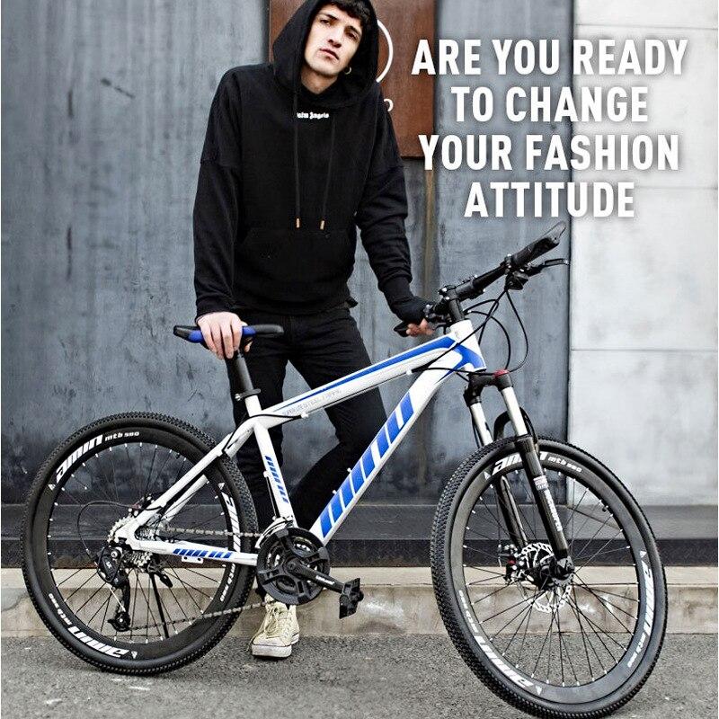 Складной горный велосипед, 24 /26 дюймов, двойной дисковый тормоз, 3 лезвия, 24/27/30 скорости|Велосипед|   | АлиЭкспресс