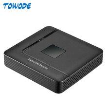 Towode 15V PoE NVR Recorder Motion Detect Allarme di Sicurezza di Sorveglianza NVR 4CH 1080P Con 4CH Porta PoE Per CCTV Kit DVR Della Macchina Fotografica