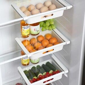 Image 2 - Küche lagerung rack organizer küche organizer rack küche zubehör veranstalter regal kühlschrank lagerung regal box