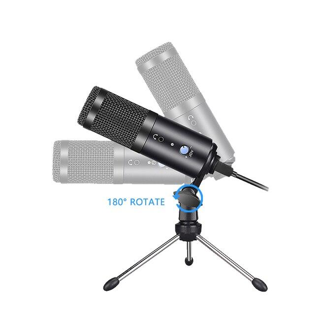 Фото конденсаторный usb микрофон конденсаторный компьютер для пк