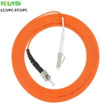 YOUYSI LC/UPC-ST/UPC Fiber Patch Cable LC-ST Multimode Fiber Jumper MM Simplex OM1/OM2