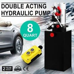 DC12V 8-Quart High Flow Double-Acting Hydraulic Pump Power Unit Dump Trailer